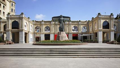 Monument  Imadaddin Nasimi in Baku. Azerbaijan
