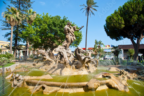 Papiers peints Fontaine Fountain of Proserpine, Catania (Catania) Sicily.