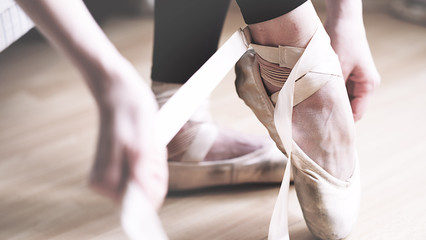 ballet, pointes, ballerine