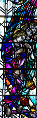 Angels with myrhh in stained glass