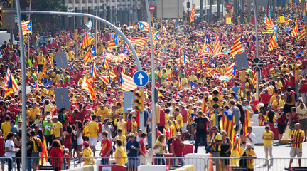 Rally demanding independence for Catalonia