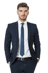 Stylish successful young businessman