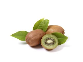 Kiwi fruits isolated on white