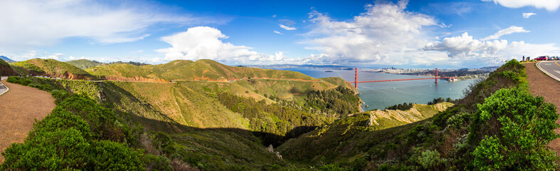 San Francisco Golden Gate Bridge Panorama