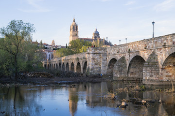 bridge leading to the Cathedral in Salamanca
