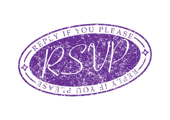 RSVP Reply if you please invite rubber stamp.
