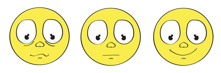 yellow smiley sad emoticon