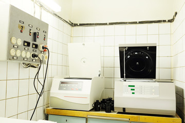 Equipment for conducting experiments in laboratory. Centrifuge