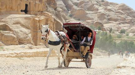Tourist transport (carriage) in Petra,  Jordan