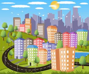 Modern metropolis