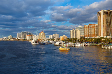 View of the Fort Lauderdale Intracoastal Waterway