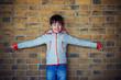 Portrait of cute little boy outdoors