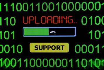 Uploading support