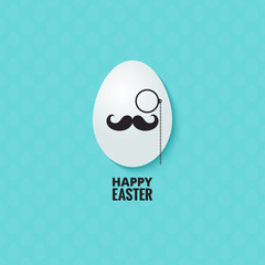 easter hipster egg background