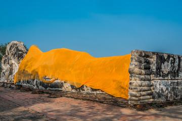 reclining buddha Wat Lokayasutharam Ayutthaya