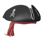 Pirate Tricorn Hat  Skulls And A Red Bandana Wall Sticker