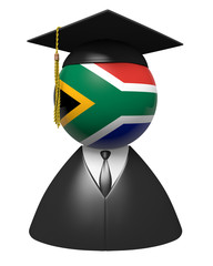 South Africa college graduate concept for schools and education