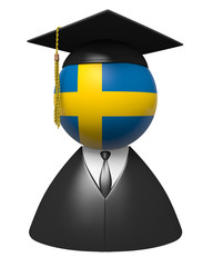 Sweden college graduate concept for schools and education