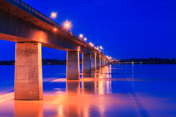 Friendship Bridge of Thailand - Laos located in Mukdahan, Thaila