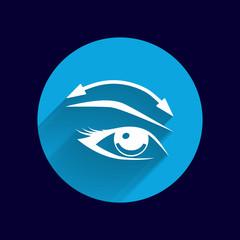 Eyelashes and eyebrows vector eyelash eye icon makeup isolated