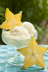 Tropical Starfruit Ice Cream