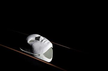 White mask reflection