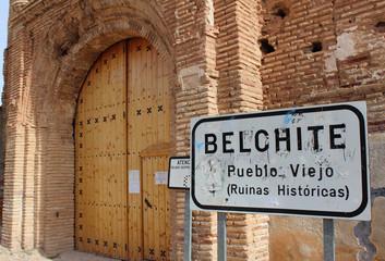 Belchite viejo cartel