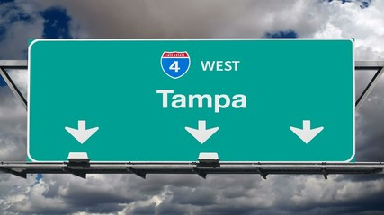 Tampa Interstate 4 Freeway Sign Time Lapse