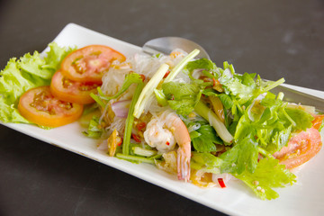 Glass noodle with seafood - Stock Image
