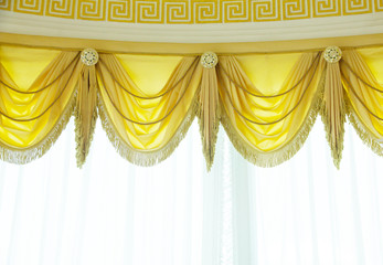 Luxury curtain - Stock Image