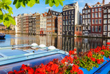 Traditional dutch buildings, Amsterdam