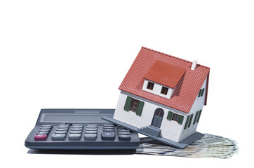 House on money and calculator