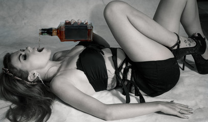 Sexy Woman With Whiskey