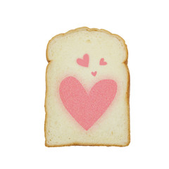 slice of white bread against the white background