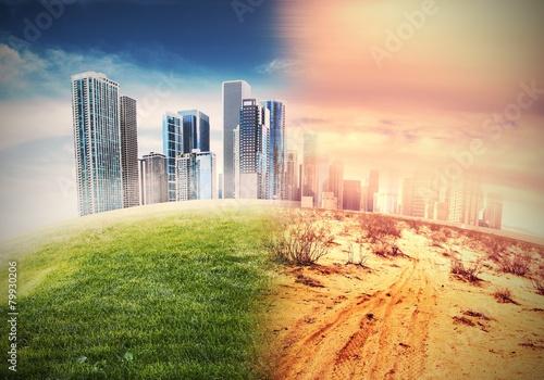 Leinwandbild Motiv Desertification