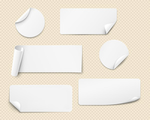Vector white stickers
