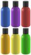 Six colourful bottles