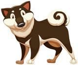 Lovable brown dog poster