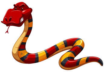 Colourful scary snake