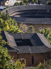 Traditional Hakka Tulou buildings. Fujian, China