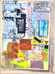 Patchwork and collage scrapbook series