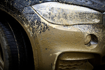 Muddy off-road