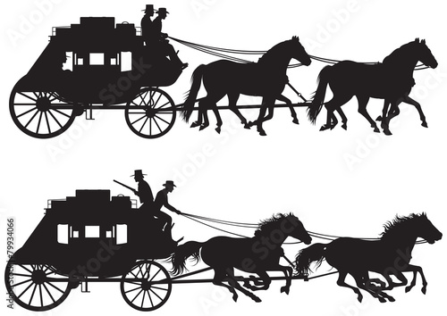 Stagecoach silhouettes - 79934066