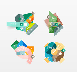 Set of vector abstract geometric layout