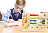 School Child Pupil Education, Clock Abacus, Students Boy Glasses