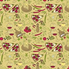 Italian cuisine pattern