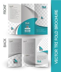 Tax Center Tri-Fold Mock up & Brochure Design