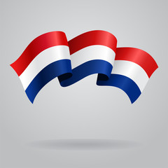 Dutch waving Flag. Vector illustration