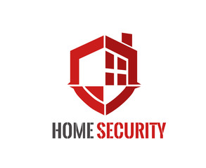 Home security Logo vector illustration