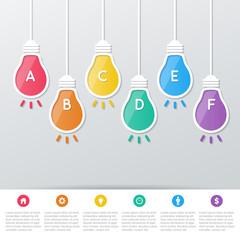 paper bulbs infographics